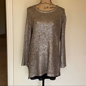 Chelsea and Violet metallic sweater
